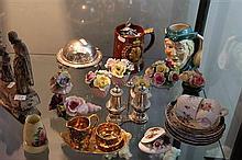 Ceramic Floral Ornaments, Ceramics, Silver Plated Wares