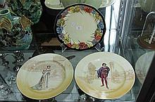 Royal Doulton 'Pansy' Plate with a Royal Doulton 'Katherine' & 'Romeo' Plate