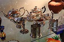 Silver Plated Tea Wares & Others including Russian
