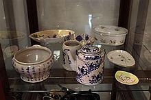 Fenton Bowl with Other Ceramics incl Bavarian
