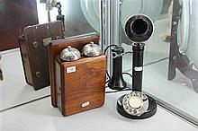 Telescopic Telephone with Wall Hung Bell