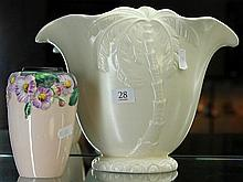 Beswick Palm Tree Vase and  Carlton Ware Vase