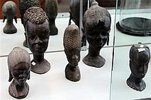 5 Carved Timber Busts