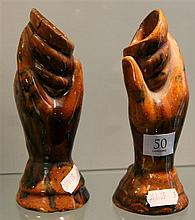 Early Australian Pottery Hand Vases