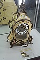 German Clock in Italian Casing Hand Painted with Gilt Metal Mounts