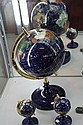 Stone Set Globe of the World & 2 Smaller Examples