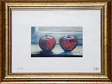 K Shelton, Still Life, Pastel. 11 x 17cm