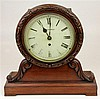 Angelo Tornaghi Carved Timber Mantle Clock