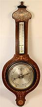 Victorian Inlaid Mahogany Barometer