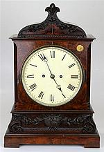 Victorian Flame Mahogany Fusee Bracket Clock