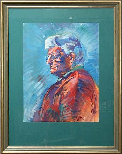 Sarah Anne Cartmell (XX -) (2 artworks) - Brian & Brian the Fisherman each 72 x 53.5cm