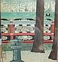Tomikichiro Tokuriki - Kyoto Shrine 27 x 24cm