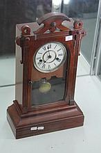 Seth Thomas American Timber Mantel Clock with a Key