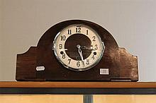 Art Deco Westminster Chime Mantel Clock with Pendulum
