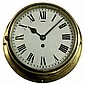 Brass Swiss Esca Ship's Clock
