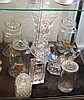 Crystal Cut Oversized Vase with Other Glass & Crystal Wares incl Biscuit Jars, Royal Doulton Decanter, etc