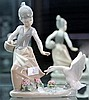 Lladro Figure of Girl Being Chased by Goose