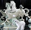 Lladro Figural Group of Horses (AF) & a Polar Bear Figure