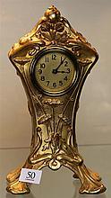 Art Nouveau American Gilt Metal Clock
