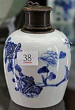 Chinese Blue & White Tea Jar