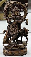 Brass Figure of Krishna