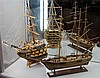 'The HMS Victory' Half Hull & Model Ship on Stand
