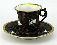 Bohemian Hunting Cup & Saucer
