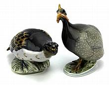 Royal Copenhagen Partridge & Guinea Fowl Figures