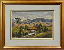 Allan Fizzell (1944 -) - Creek in the Hills, Crudine 44 x 64.5cm