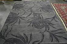 Hand Made Dark Grey Rug(280x190cm)