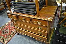 Raised Timber Chest of 6 Drawers on Craved Cabriole Legs