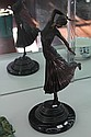 Art Deco Style Dancing Bronze Figure on Black Marble Base