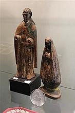 Gilt Timber Carved Figure of Christ & Another