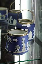 Two Wedgwood Jasper Ware Biscuit Boxes (Without Lids)