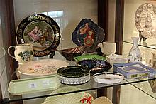 Limoges Cabinet Plate with Other Ceramics including Royal Doulton