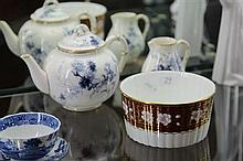 Royal Worcester Teapot & Creamer with a Wedgwood Bowl