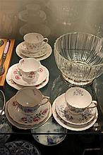 Shelley Trio with 3 Other Cup Saucer Plate Sets incl Wedgwood 'April Showers'