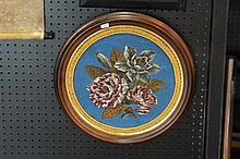 Probably Victorian Floral Glass Bead Tapestry
