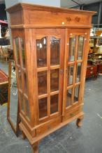 Mahogany Glass Front Bookcase