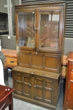 Ercol Elm 2 Piece Bookcase