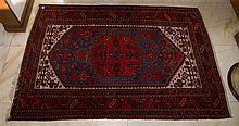 Red and Cream Tone Carpet w Geometric Patterns (134 x 202cm)