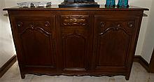 French hand carved mahogany sideboard.