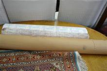 Large Collection of Vintage Mark Foy Christmas Wrapping Paper and Brown Paper Roll
