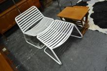 Metal Outdoor Chair w Ottoman