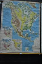 Vintage Scholl Map of North America