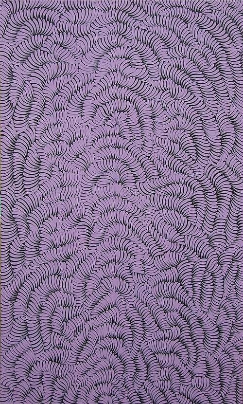 Mary Rumble Pitjara (1957 - ) - Awelye (Bush Medicine) 150 x 91cm