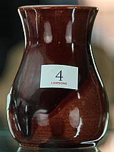 John Campbell Red Glaze Vase, Height - 10cm