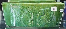 John Campbell Green Trough with Floral Motif, Length - 29cm