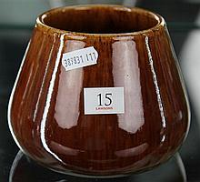 John Campbell Brown Glaze Vase, Height - 11cm