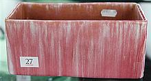 John Campbell Pink Glaze Trough, Length - 20cm